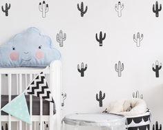 Cactus Wall Decals Nursery Decals Vinyl Wall by KennaSatoDesigns Nursery Wall Decals, Baby Nursery Decor, Nursery Themes, Vinyl Wall Decals, Wall Stickers, Nursery Stickers, Themed Nursery, Nursery Room, Bedroom
