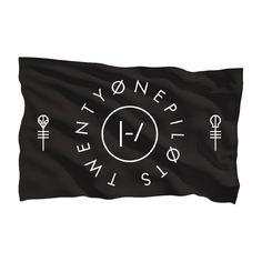 Twenty One Pilots Clique Circle Flag
