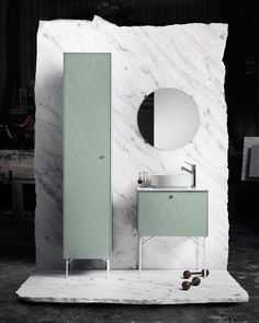 The Stockholm-based IKEA hacking company, Superfront, are launching a new range of high-end bathroom furniture compatible with IKEA's METOD range. Living Furniture, Bathroom Furniture, Bathroom Interior, Bathroom Ideas, Bath Cabinets, Green Home Decor, Master Room, Garden Tub, Toilet Design
