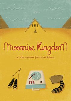Moonrise Kingdom (2012) ~ Minimal Movie Poster by Celeste Aires ~ Wes Anderson Series #amusementphile
