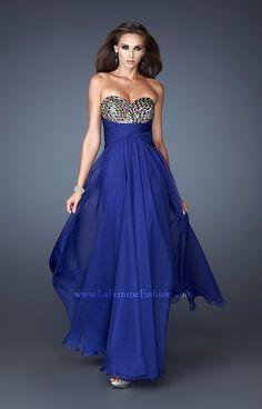 Iridescent Blue Prom Dresses