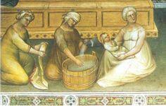 Giusto de Menabuoi, particolare dalla Nascita di S. Giovanni Battista, 1376 c.a. – Padova, Battistero.