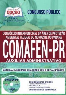 Apostila Concurso Comafen 2018 Auxiliar Administrativo Com