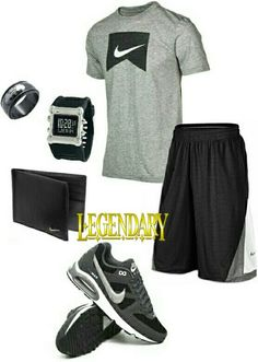 nike shoes Mens fashion gray black nike outfit