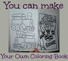 Did You Know Can Make Your Own Coloring Book Easy Free Printable