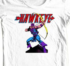 HAWKEYE Marvel Comics T shirt retro 100% cotton graphic superhero movie Avengers #HanesGildanAnvil #GraphicTee