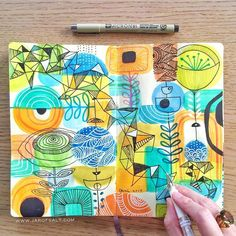 #tbt: This sketchbook entry planted the seeds of a series of acrylic paintings…