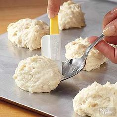 It only takes 25 minutes to get these fluffy and tasty buttermilk biscuits from the fridge to the table. /