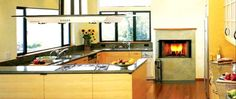 Light Oak Indian G Shaped Kitchen