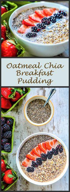 Fruit & Oatmeal Chia Breakast Pudding