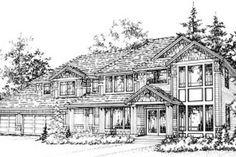 Craftsman Style House Plan - 3 Beds 3 Baths 3202 Sq/Ft Plan #78-217 Exterior - Front Elevation - Houseplans.com