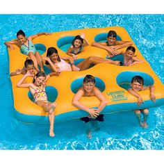 Your kids and their friends will have a blast on the Labyrinth Island. Large enough for nine, your kids will swim the day away coming up from underwater and onto the island.