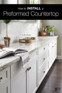 Installing laminate countertops is easier than you might think, especially with preformed models. Click through to find a list of the materials you'll need for install and nine simple steps to walk you through the DIY job.