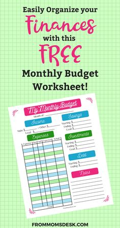 free monthly budget template cute design in excel budgeting tips