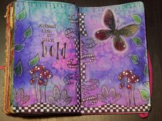 Dylusions page - Sprays, stamps, stencils all Dylusions