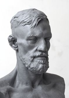 My latest project,lifesize portrait of Conor Mc. Human Sculpture, Sculpture Head, Sculptures, Head Anatomy, Anatomy Drawing, Anatomy Sculpture, Clay Art Projects, Modelos 3d, Photo Reference