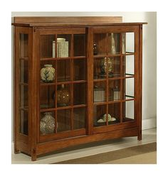 Found it at Wayfair - Bungalow Curio Cabinet Mission Furniture, Amish Furniture, Solid Wood Furniture, Cabinet Furniture, Online Furniture, Antique Furniture, Home Furniture, Library Cabinet, Antique China Cabinets