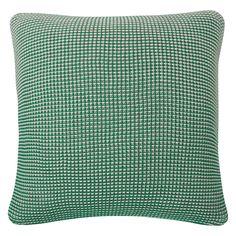 JILLY Green knitted cushion 50 x 50cm
