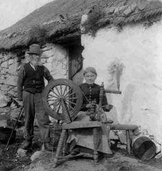 Wool Spinning Achill Island, Ireland, 1903