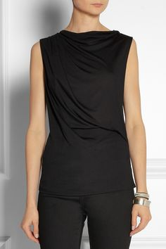 Boatneck, sleeveless version of the Style Arc Molly top