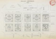 Plan des halles centrales, 1902