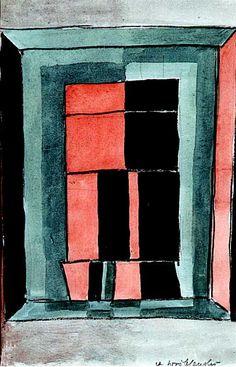 Andrzej Wróblewski - Kompozycja abstrakcyjna 1947/48, akwarela, kredka, papier
