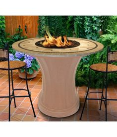 30 best table fireplace images outdoor table tops portable rh pinterest com