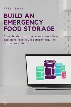 free class how to build an emergency food supply in 3 simple steps. Emergency food storage.