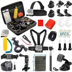 Vanwalk Sport camera Accessories Kit for Gopro Hero 5, Session 5, 4/3 /3/2, DBPOWER, AKASO, Canany, Lightdow, SJCAM, Xiao mi Yi 2/4K Action Video Cameras (15 Items) review - www.bestseller.ws...