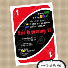 PRINTABLE First birthday Party Invitation DIY by luvbugdesign