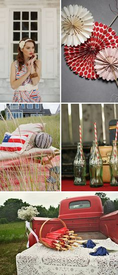 Happy fourth of July  need the straws, the flag pillow, and the parasols