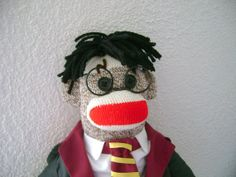 Harry Potter Sock Monkey by DeedleDeeCreations on Etsy, $35.00