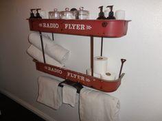 Radio Flyer Wagon Double plateau par RelicsReimagined sur Etsy