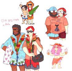 pile of summer themed traditional arts includes bad puns Pokemon Go Comics, Pokemon Pins, Pokemon Memes, Pokemon Team Leaders, Gym Leaders, Ash And Misty, Pokemon Pocket, Jojo Memes, Team Rocket