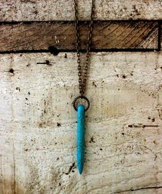 Turquoise Spear Necklace <3
