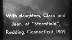 Silent film footage taken in 1909 by Thomas Edison at Stormfield (CT) at Mark Twain's estate. Twain is shown walkng around his home and playing cards with his daughters Clara and Jean.
