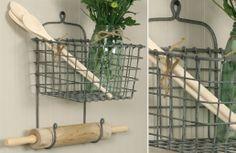 {Get Organized} Galvanized Wall-Mount Wire Basket $26.50