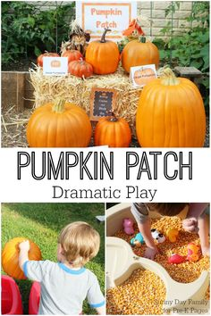 Pumpkin Patch Dramatic Play. A fun learning and pretend play experience for your preschool or kindergarten classroom or at home!