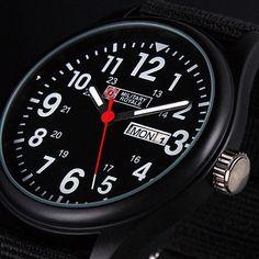 New Military Royale Date Week Display Sport Army Man's Wrist Watch