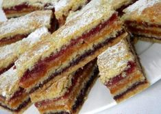 Delicious homemade dessert with jam-very unusual and quick to prepare. I suggest you bake cakes with Romanian Desserts, Romanian Food, Homemade Desserts, Dessert Recipes, Yummy Treats, Sweet Treats, Prune, No Bake Cake, Deserts