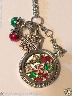 Christmas Floating Oragami Owl STYLE Memory Locket Necklance NOT ORAGAMI