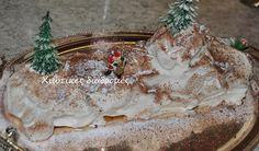 Χιώτικες Διαδρομές: Τούρτα: Χριστουγεννιάτικος κορμός γενεθλίων του μπ... Xmas, Christmas Ornaments, Cheese, Holiday Decor, Cake, Food, Yule, Xmas Ornaments, Pie Cake