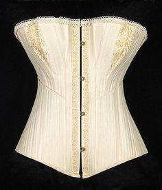Corset Date: ca. 1880 Culture: American Medium: Cotton, metal, bone