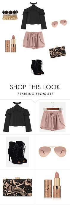 """Untitled #76"" by brianna-miller-bts-army ❤ liked on Polyvore featuring Alice + Olivia, WithChic, JustFab, Ray-Ban, Love Moschino, tarte and Charlotte Russe"