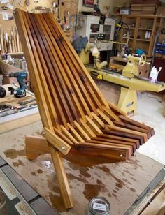 I just uploaded this video on YouTube on how to make this Cedar chair. Here's some more detailed instructions if you would like to build it. It's a pretty easy...