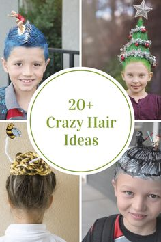It's that time of year again at school to unleash you and your child's imaginations and create some absolutely crazy hairstyles. We've put together a super cute collection of Crazy Hair Day Ideas that are sure to get you inspired....check them all out now! You could also use many of these Crazy Hair Day Ideas for Halloween. Christmas, or Easter.