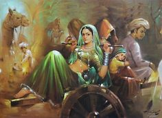 artes fotos ciganos | BEST INDIAN WOMEN PAINTINGS