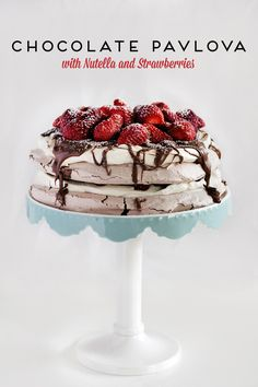 Chocolate Pavlova with Nutella and Strawberries « Love Swah – A Sydney food, travel and design blog
