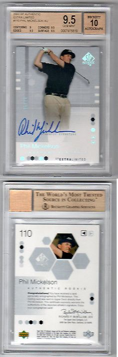 Golf Cards 4240: 2002 Sp Authentic Extra Limited Gold Phil Mickelson Auto Rc Bgs 9.5 W 10 # 25 -> BUY IT NOW ONLY: $5000 on eBay!