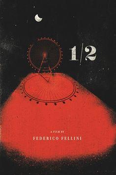 Póster para la película 8 1/2 de Federico Fellini. #design #arte #diseño